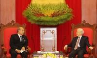 阮富仲会见缅甸联邦议会议长兼民族院议长曼温凯丹