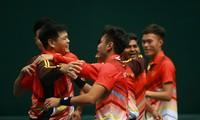 越南男子网球队在戴维斯杯网球赛亚大区第三组比赛上晋级第二组