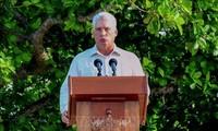 古巴国务委员会主席兼部长会议主席迪亚斯-卡内尔访问俄罗斯