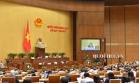 越南国会听取《酒类危害预防控制法(草案)》呈文和审查报告