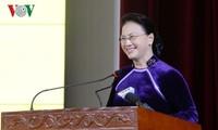 阮氏金银出席财政学院越南教师节纪念活动