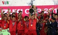 越南国家足球队夺得2018年铃木杯东南亚足球锦标赛冠军