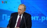 俄总统普京年终记者会:畅谈叙利亚局势、与英国关系及西方国家制裁
