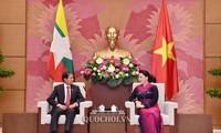 越南国会主席阮氏金银会见缅甸总统温敏