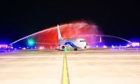 广宁云屯国际航空港接待第一趟国际航班