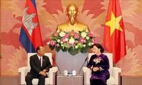 柬埔寨国会主席韩桑林圆满结束访越行程