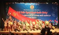 山萝省举行群众艺术晚会  纪念越南工会组织成立90周年