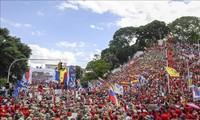 委内瑞拉民众举行游行反对美国制裁