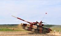 越南队在2019年国际军事比赛半决赛上领先