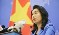 越南要求中国终止侵犯行为,撤回船只,不再采取类似违犯行为