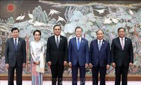 阮春福出席第一届湄公-韩国峰会