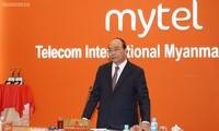越南政府总理阮春福视察在缅投资越南企业主要设施