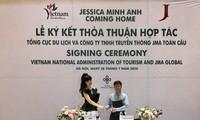 តារាបង្ហាញម៉ូដល្បីឈ្មោះនៅលើពិភពលោក Jessica Minh Anh ផ្សព្វផ្សាយគោលទេសចរណ៍ដៅវៀតណាម