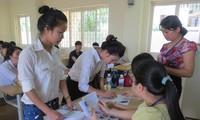 Các thí sinh tham dự đợt 2 kỳ thi tuyển sinh đại học, cao đẳng 2013