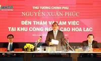Thủ tướng Nguyễn Xuân Phúc làm việc với Ban quản lý khu công nghệ cao Hòa Lạc
