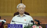 Tổng bí thư Nguyễn Phú Trọng tiếp xúc cử tri quận Ba Đình và quận Tây Hồ, Hà Nội