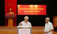 Văn phòng Trung ương Đảng quyên góp ủng hộ đồng bào các tỉnh miền núi phía Bắc