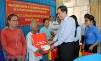 Chủ tịch Ủy ban Trung ương MTTQ Việt Nam thăm và chúc Tết cổ truyền đồng bào Khmer ở Trà Vinh