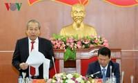 Phó Thủ tướng Trương Hòa Bình kiểm tra công tác phòng, chống tham nhũng tại tỉnh Lào Cai