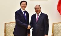 Thủ tướng Nguyễn Xuân Phúc tiếp Bộ trưởng Bộ Nông nghiệp, Nông thôn Trung Quốc Hàn Trường Phú