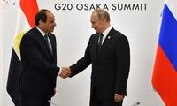 Tổng thống Nga Vladimir Putin và Tổng thống Ai Cập Abdel Fattah Al-Sisi. - Ảnh: AFP