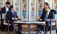 Thủ tướng tiếp Thị trưởng Thành phố Busan, Hàn Quốc
