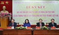 Ký kết phối hợp công tác giữa Ủy ban Trung ương MTTQ Việt Nam và Văn phòng Chủ tịch nước