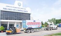 Vinamilk xuất lô sữa đặc đầu tiên sang Trung Quốc