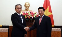 Phó Thủ tướng, Bộ trưởng Ngoại giao Phạm Bình Minh tiếp Đại sứ Nhật Bản tại Việt Nam