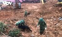 Đã tìm thấy 22 thi thể cán bộ, chiến sỹ Đoàn Kinh tế- Quốc phòng 337 tử nạn do sạt lở núi