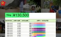 Du học sinh Việt Nam tại Nhật Bản hướng về đồng bào miền trung