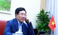 Phó Thủ tướng Chính phủ, Bộ trưởng Ngoại giao Phạm Bình Minh điện đàm với Ngoại trưởng Hoa Kỳ