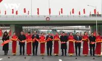 Khánh thành nút giao đường vành đai 3 với cao tốc Hà Nội - Hải Phòng