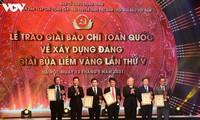 Trao giải Báo chí toàn quốc về xây dựng Đảng lần thứ 5