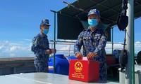 Lực lượng trực chốt trên biển đảo Tây Nam hoàn thành công tác bầu cử sớm trên biển