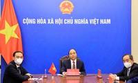 Chủ tịch nước Nguyễn Xuân Phúc làm việc trực tuyến với Chủ tịch Hội Hữu nghị Hàn Quốc - Việt Nam
