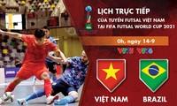 Tuyển Futsal Việt Nam gặp Brazil trong trận ra quân vòng chung kết Futsal World Cup 2021