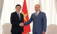 Руководители Вьетнама и России обменялись поздравительными письмами