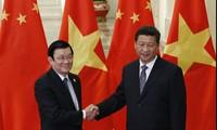 Президент Вьетнама встретился с генсеком ЦК КПК, председателем КНР Си Цзиньпинем