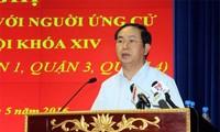 Президент CРВ Чан Дай Куанг встретился с избирателями города Хошимин