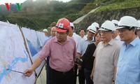 Генсек ЦК КПВ Нгуен Фу Чонг посетил ГЭС «Лайтяу»