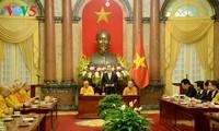 Президент СРВ Чан Дай Куанг принял делегацию Вьетнамской буддийской сангхи