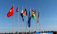 Флаг Вьетнама на карте миротворческой деятельности ООН