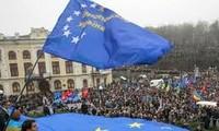 การชุมนุมประท้วงการยกเลิกสนธิสัญญาเชื่อมโยงกับอียูในประเทศยูเครน