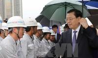ประธานคณะกรรมาธิการสภาผู้แทนประชาชนจีนลงพื้นที่ตรวจสอบโครงการก่อสร้างหอประชุมมิตรภาพเวียดนาม-จีน