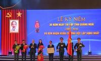 Primer ministro de Vietnam participa en acto por 30 aniversario de restablecimiento de Quang Ngai