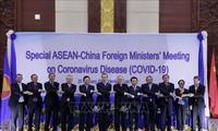อาเซียนและจีนผลักดันความร่วมมือในการรับมือการแพร่ระบาดของเชื้อไวรัสโควิด -19