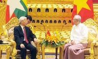 ผู้นำพรรคและรัฐบาลเวียดนามส่งโทรเลขแสดงความยินดีในโอกาสรำลึกครบรอบ 45 ปีการสถาปนาความสัมพันธ์ทางการทูตเวียดนาม-เมียนมาร์