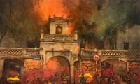ชุดภาพวาดที่สวยงามเกี่ยวกับฮานอยของจิตรกรชาวนครโฮจิมินห์