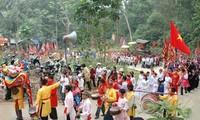 Ceremonial drums sound in Son Vi village